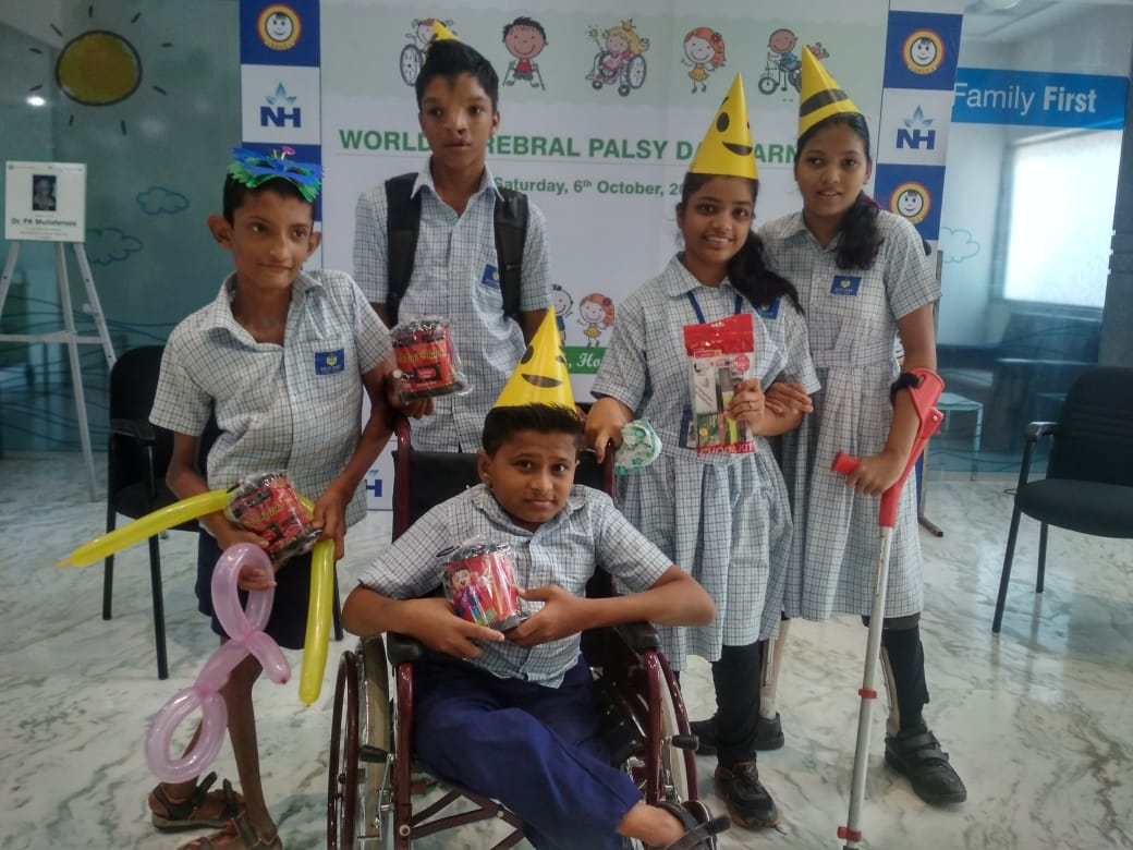 Visit of the students to CHILDREN'S ORTHOPAEDIC HOSPITAL at Haji Ali on Cerebral Palsy Day  in October 18