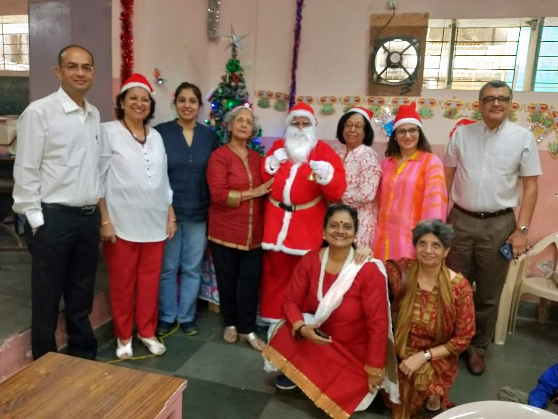 Dec 18 Christmas Party at Antop Hill school with Committee Members, Headmistress Purnima and well-wishers