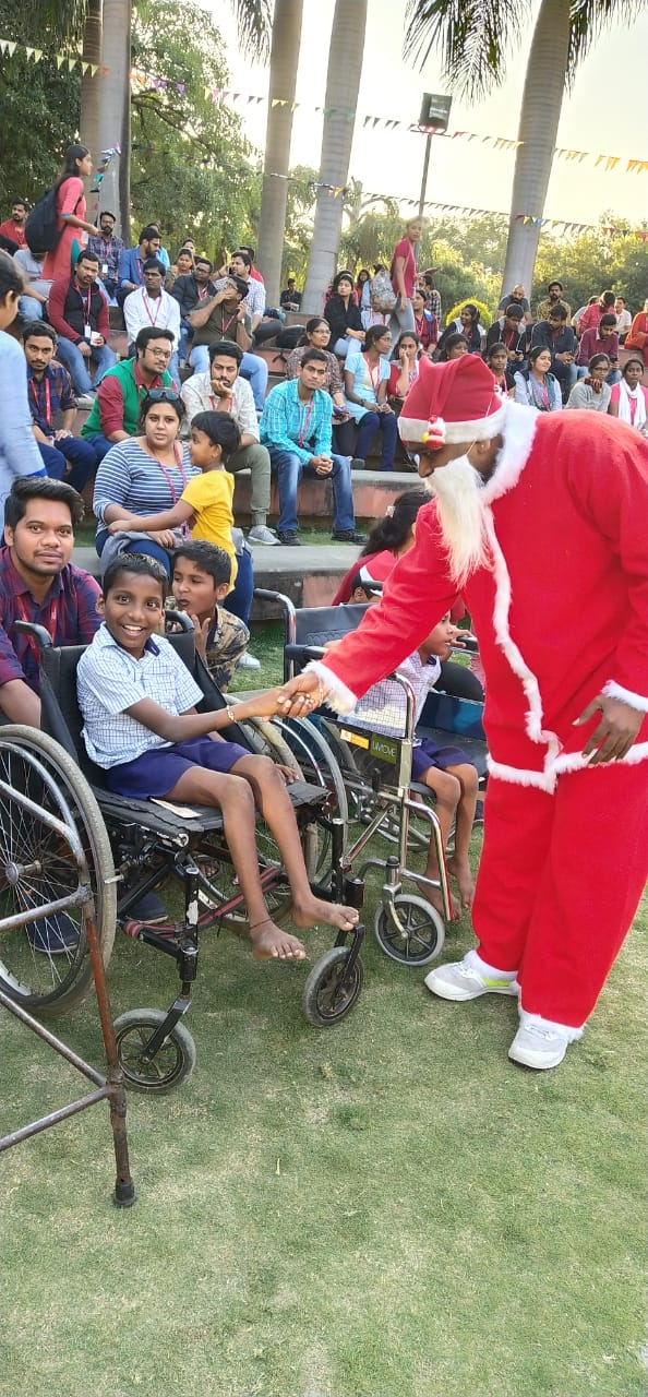 Dec 18 Christmas cheer organised by TechMahindra for the students of the school at Naigon